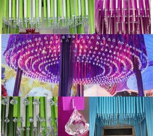 Image 5 - 20 шт./лот подвесная люстра с кристаллами, акриловые хрустальные бусины для дома, Свадебные вечерние украшения DIY