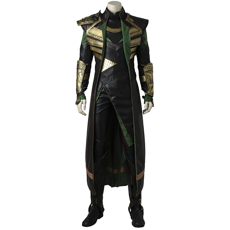 Thor The Dark World Loki Cosplay Costume Thor 2 Loptr Cosplay Outfit Halloween Suit Uniform Men Adult Custom Made