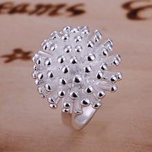 2015 new 925 sterling silver flower Ring for Women Men Gift Silver Jewelry Fine Fashion jewerly  Finger Rings wholesale