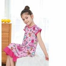 Новое платье для девочек платье для маленьких принцесс, ночные рубашки, Детские Castel платье принцессы вечернее платье для девочек, одежда для сна детские пижамы; одежда для сна