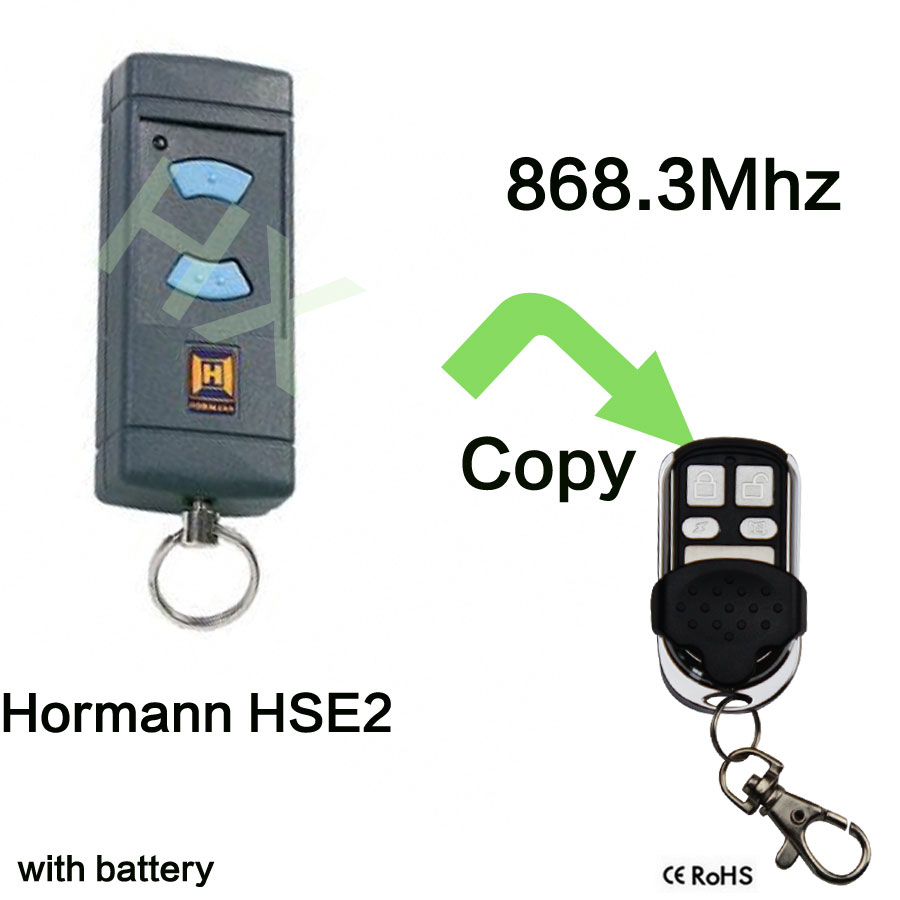 868Mhz Electric Garage Door Remote Control For Hormann HSE2 Clone replacement remote for hormann hsm2 868 hsm4 868mhz