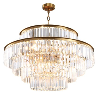 Modern Crystal Chandelier For Living Room Luxury Gold LED Crystals Lamps Dining Room Decor Chain Chandeliers Lighting Pendant Lights     - title=