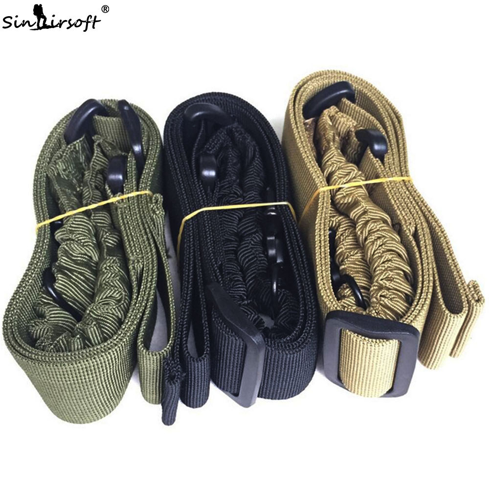 SINAIRSOFT One Point Quick Detach Sling Strap Single Point Rifle AR Sling Adjustable Tactical Airsoft Gun Strap for Hunting|  - title=