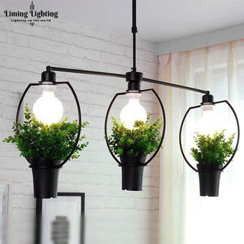 Babylon Pots Potted Modern Pendant Light Living Room Restaurant Plant Decor Hanging Lamp Home Lighting Suspension Luminaire
