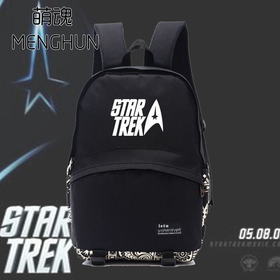 New concept star Star Trek movie fans concept backpack retro classical movie fans backpack black nylon bag school bag NB092 купить