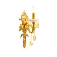 Nordic K9 Crystal LED Wall Lamps Copper Corridor Indoor Lights & Lighting  Bedroom Bedside Sconce Decor Fixtures