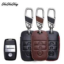 KUKAKEY Leather Car Key Case Cover For KIA RIO Sportage 2016 Ceed Sorento Cerato K2 K3 K4 K5 Protection Shell Accessories