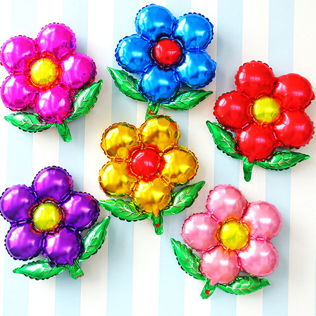 Detail Feedback Questions About 1pcs Birthday Flowers Balloons Aluminum Party Decoration Multicolor Toys For Childrens