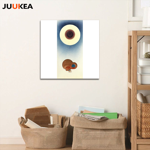 Morden Pastorale Circle Dot Japanese Creative Design Canvas Art Print Painting Poster, Wall Picture For Living Room, Home Decor