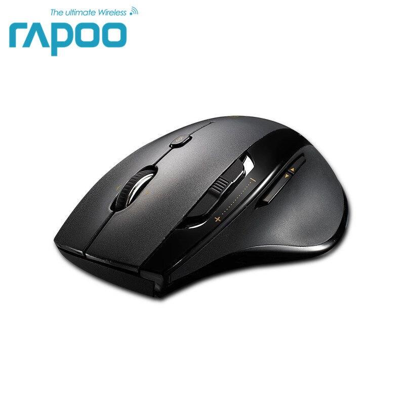 Originale Rapoo 5 ghz Wireless Gaming Mouse con Laser Ad Alta Velocità Del Mouse 1600 dpi Regolabile Per I Computer Portatili e Desktop Per grande Mano