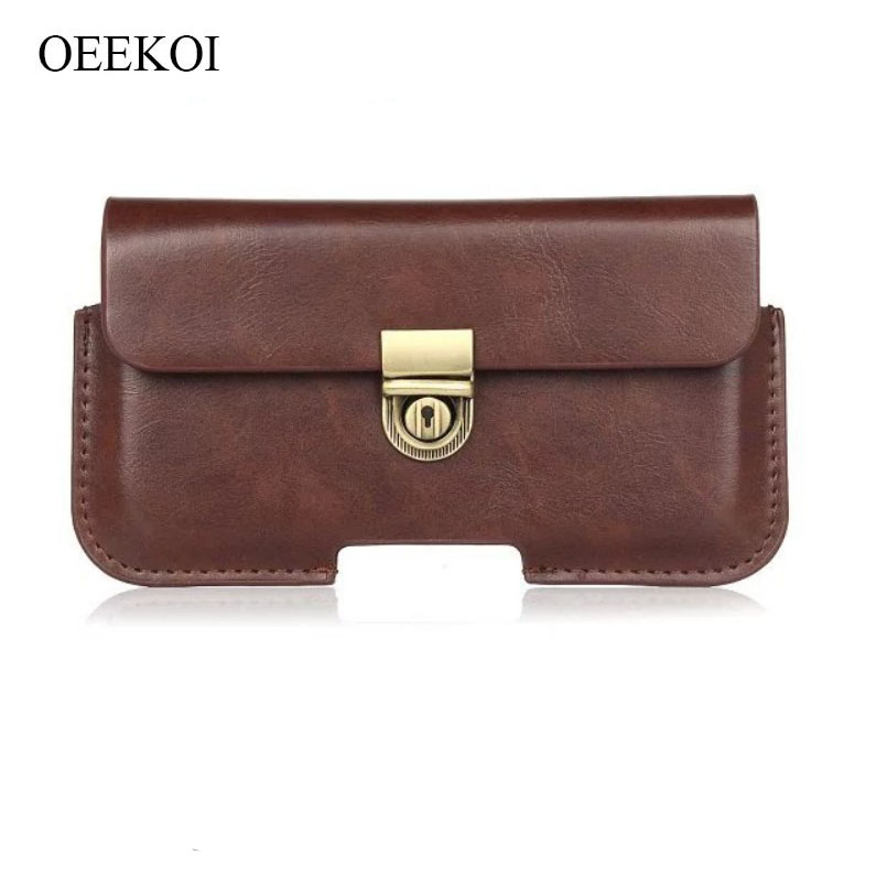 OEEKOI PU Leather Belt Clip Pouch Cover Case for <font><b>Ginzzu</b></font> S5510/ST6120/ST6020/ST6010/ST6030/<font><b>ST6040</b></font> image