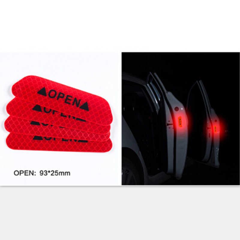 Pegatinas reflectantes de advertencia de seguridad para puerta de coche 4 piezas pegatina abierta para Solaris Hyundai elantra Sonata i30 Elantra acento ix35