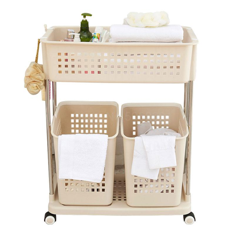 Bathroom shelf bathroom vanity restroom toilet storage rack with wheel storage floor-standing floor shelf