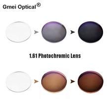 عدسات نظارات بصرية برؤية واحدة فوتوكروميك 1.61 مع أداء سريع لتغيير الألوان