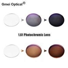 Lentilles de lunettes optiques avec changement rapide de couleur, Prescription unique photochromique, 1.61