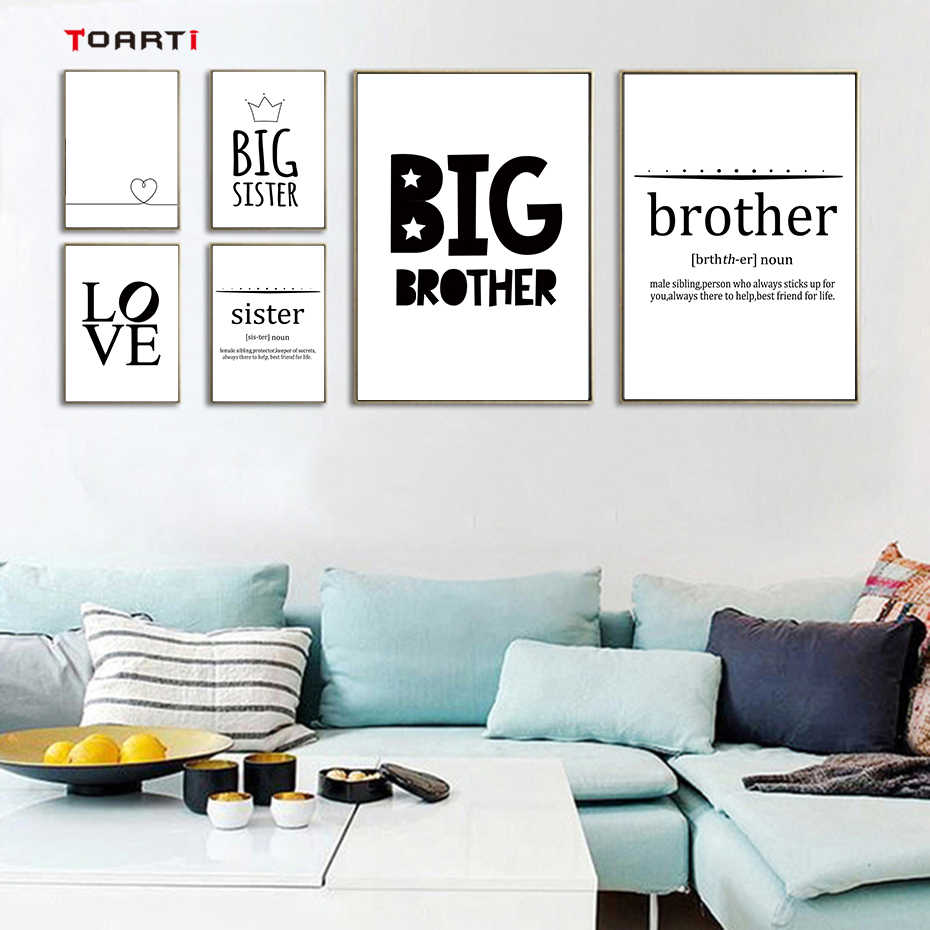 modern living room decor ideas.htm sister brother modern letters posters prints heart love canvas  sister brother modern letters posters