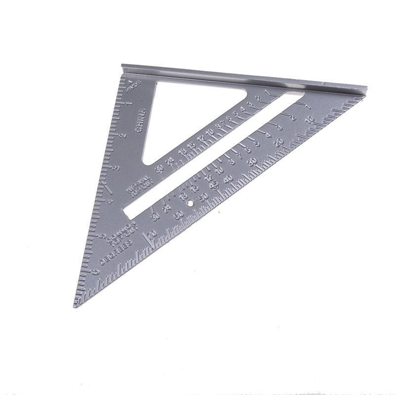 Alloy Speed Square Protractor Miter Framing Tri-square Line Scriber Saw Guide Measurement Inch Carpenter Ruler