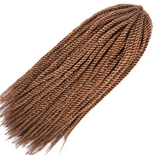 6 упаковок Feibin твист вязание крючком плетение волос для наращивания в африканском стиле черные женские Синтетические афро волосы 18 дюймов c17