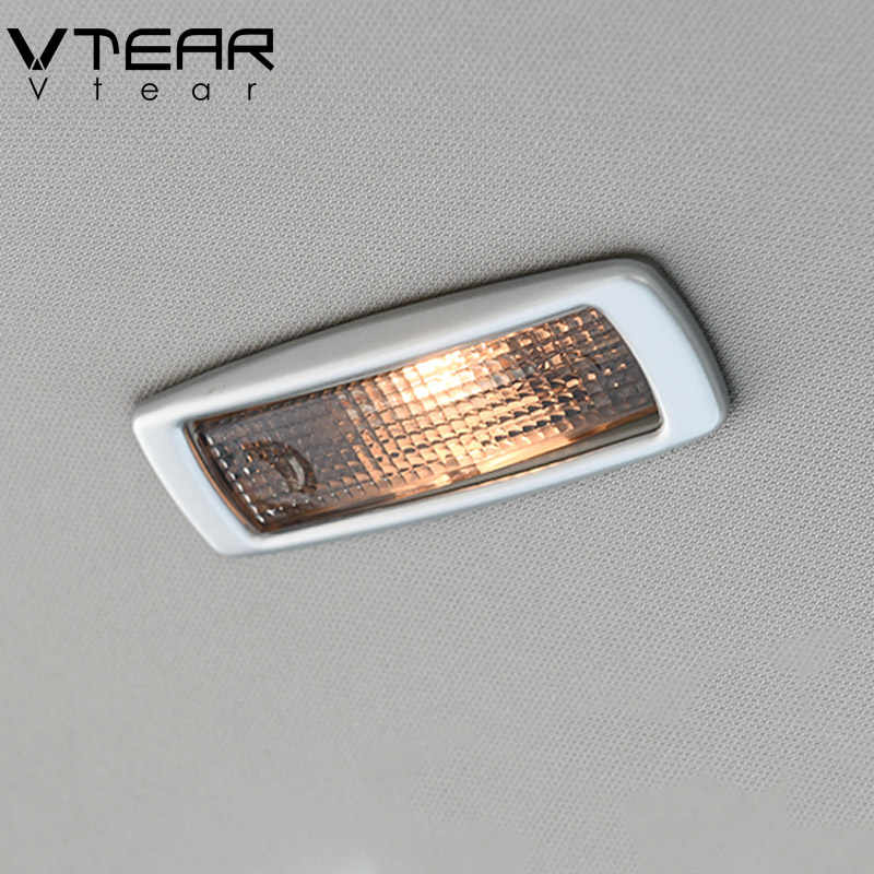Vtear For Skoda Kodiaq reading light trim cover Chromium Styling Interior Mouldings car-styling Exterior Accessories 2017-2019
