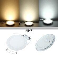 Светильник/круглый встраиваемые потолочные ультра панель сетки дизайн тонкий светодиодные свет вт