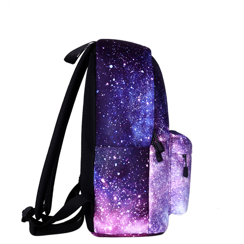 Women 39 s New Fit Female Student Student Backpack Bag Star Universe Space Print Canvas Female Backpack Student Bag in Backpacks from Luggage amp Bags