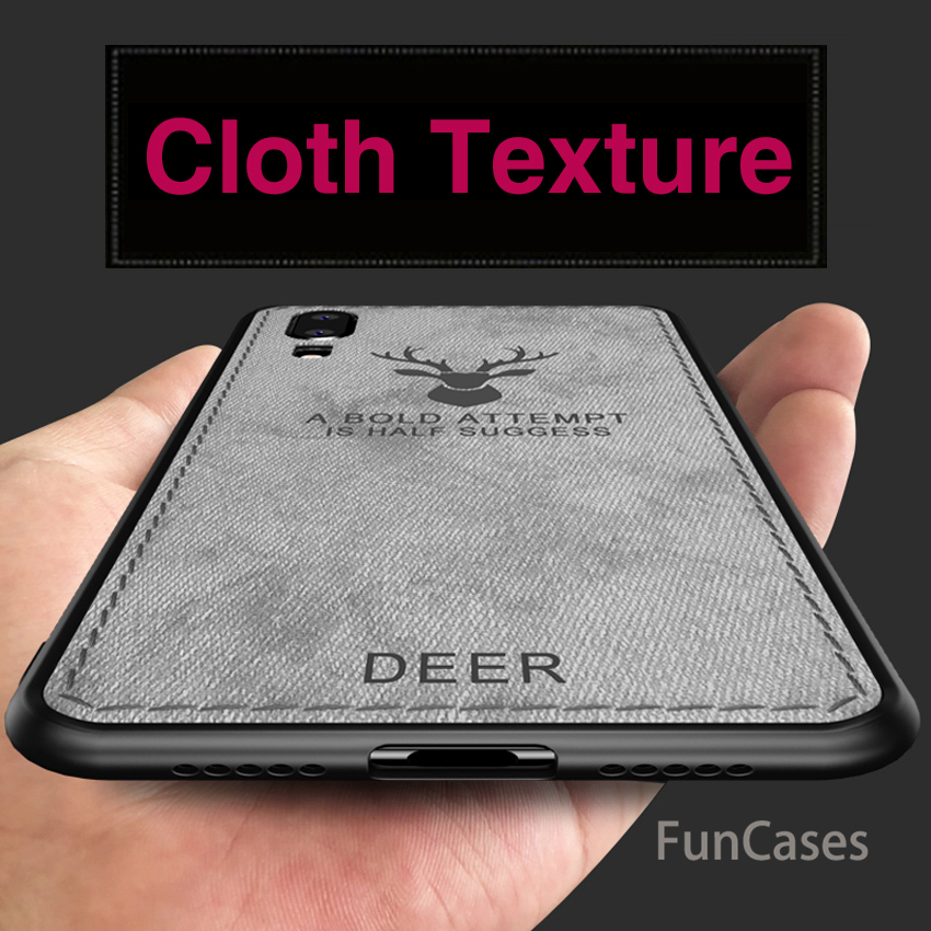 360 For Huawei P20 Pro Mate 20 Lite P Smart Case Embossed Texture Cloth Deer Cover For Honor 8X 7X P20Lite Canvas Tpu Soft Edge(China)