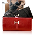 MAILAER 2016 autumn and winter female crocodile leather wallet large capacity wallet purse wallet female Genuine Leather