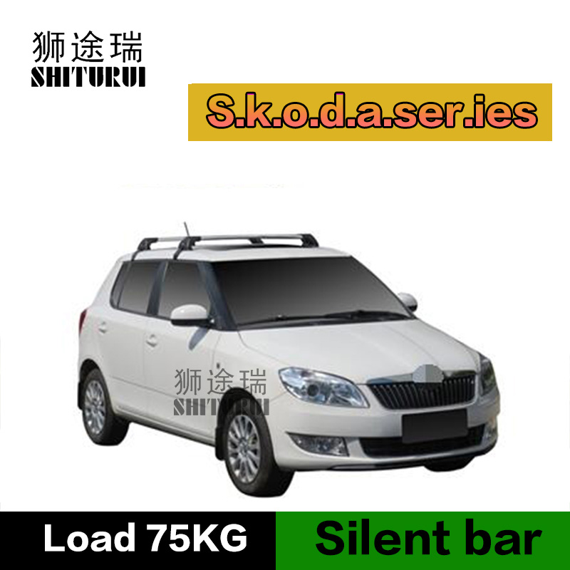 SHITURUI For Skoda Fabia ultra quiet truck roof bar car special aluminum alloy belt lock настенные часы mado md 004
