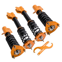 Coilovers for Subaru Impreza Forester WRX GDB GDA 2002 2003 2004 2005 2006 2007 Suspension Absorber Kit Front Rear Camber Plate