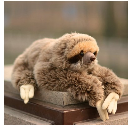 Free shipping 30cm THREE TOED SLOTH TOYS SOFT plush STUFFED DOLL TEDD for children gift 30cm cute korea pororo little penguin plush toys doll pororo with glasses plush soft stuffed animals toys for children kids gift