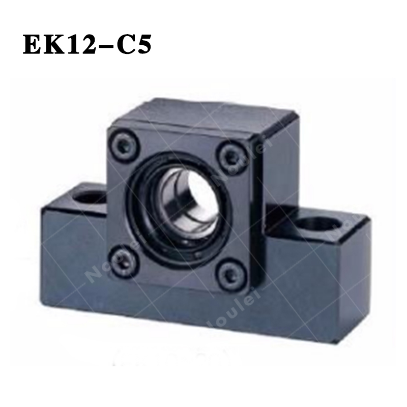 Ball screw CNC Support Unit  Fixed-side ( EK12 ) EK12-C5 Black ball screw support bearings zkln2068 2rs