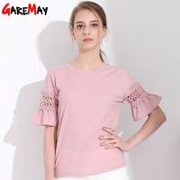 GAREMAY Women T Shirt 2018 Short Sleeve Elegant Female T Shirts Camiseta Feminina Summer Tops For