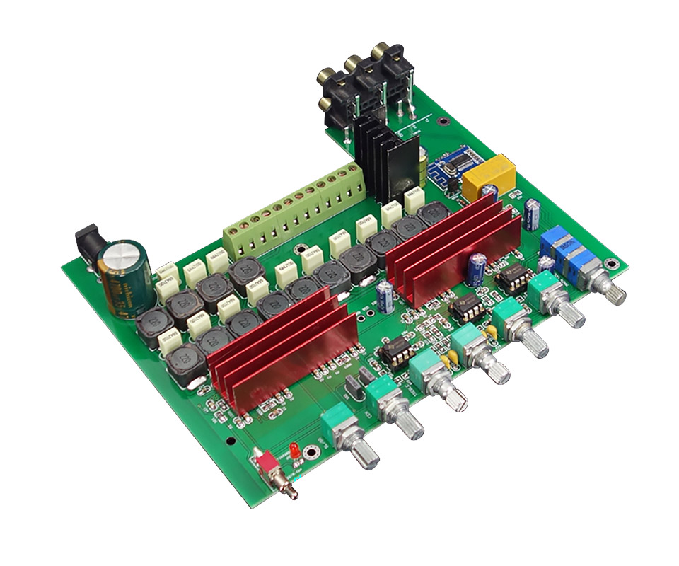 HIFI College WL60 TPA3116D2 <font><b>Bluetooth</b></font> 4.2 Amplifier Board 5.1 Channels Audio Amplifiers 100WX1+50WX5 With Treble Bass Adjustment image