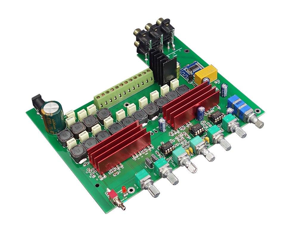HIFI College WL60 TPA3116D2 Bluetooth 4.2 carte amplificateur 5.1 canaux amplificateurs Audio 100WX1 + 50WX5 avec réglage des basses aigus