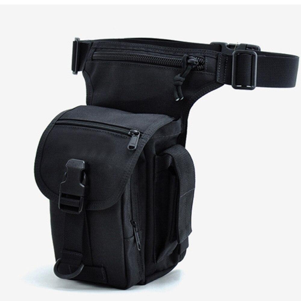 Fashion Men Nylon Drop Leg Fanny Bag Belt Bum Motorcycle Travel Rider Riding Military Cell Mobile Phone Purse Waist Pack Bags