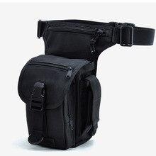 Mode Männer Nylon Bein Bag Drop Fanny Taille Gürtel Bum motorrad Reise Reiter Reiten Militär Männlichen Zelle Handy Pack geldbörse