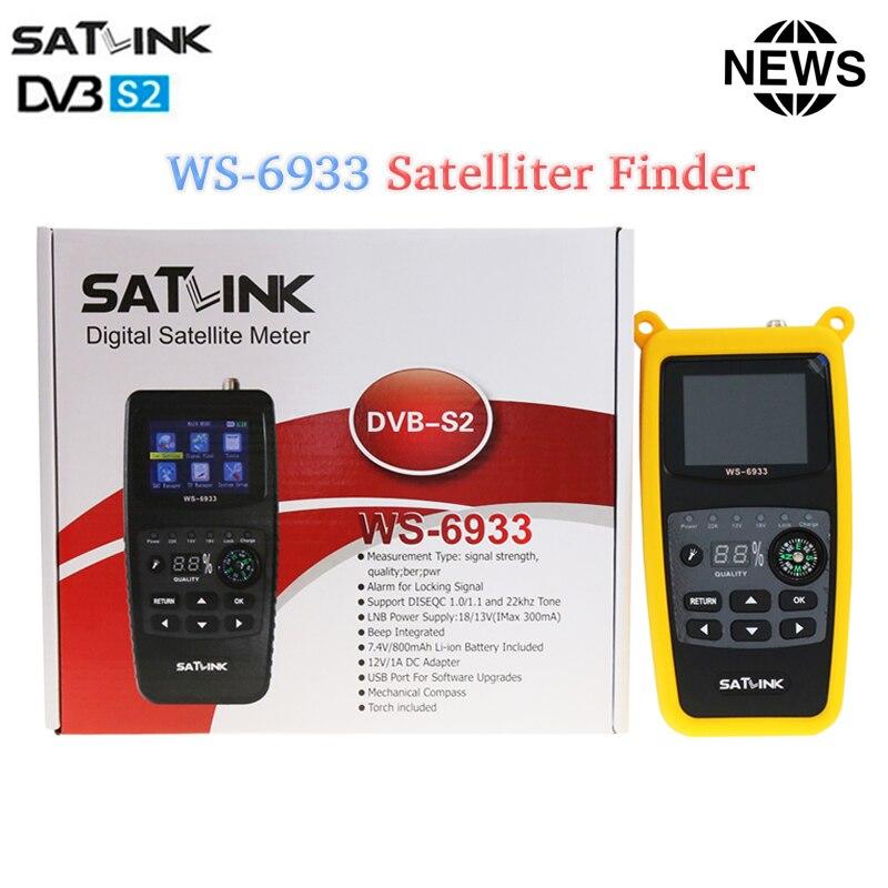 Original Satlink WS-6933 Satellite Finder DVB-S2 FTA CKU Band satfinder digital satellite finder meter DVB S2 Satfinder ws 6933 satlink ws 6979 digital satellite finder dvb s2