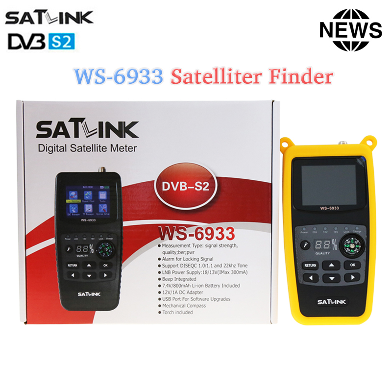 Original Satlink WS-6933 Satellite Finder DVB-S2 FTA CKU Band satfinder digital satellite finder meter DVB S2 Satfinder ws 6933 yojia original satlink ws 6979 dvb s2