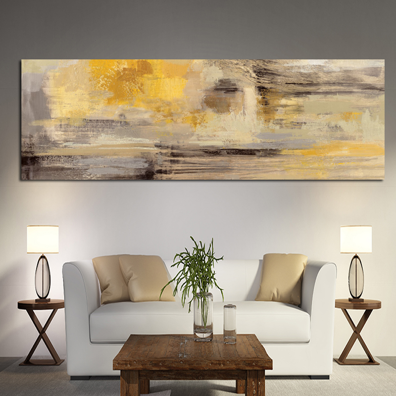 Abstract Yellow Oil Painting On Canvas Posters And Prints Modern Scandinavian Wall Art Picture Bedroom Kids Room Cuadros Decor