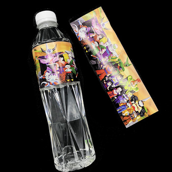 etiqueta agua dragon ball