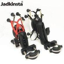 Jadkinsta Soporte genérico de plástico para manillar de motocicleta, soporte para teléfono móvil y Smartphone con agarre en X, para iPhone, para soportes de ram