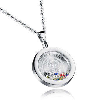 Woman's Virgin Mary Pendant Necklaces Fashion Stainless Steel Colorful Sexy Collarbone Necklace Vintage Jewelry GX1062