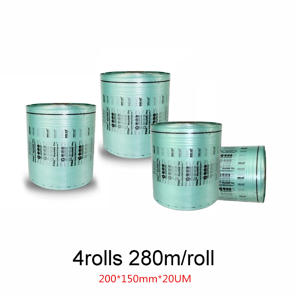 4Rolls Air Cushion Filller Film High Density PE Material Meet ROHS Air Pillows Air Dunnage Packing Film 280M/roll 200*150mm*20UM4Rolls Air Cushion Filller Film High Density PE Material Meet ROHS Air Pillows Air Dunnage Packing Film 280M/roll 200*150mm*20UM