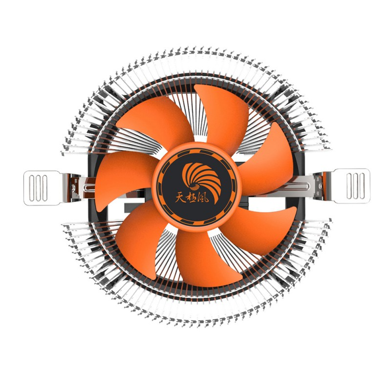 12V 2 Pin 70mm PC Computer CPU Cooling Fan Heat Sink Low Noise Halo Cooling Fans Rediator for CPU Intel LGA775 1155 AMD AM2 AM3 medium computer cpu plastic cooling fan leaves card blower heat sink