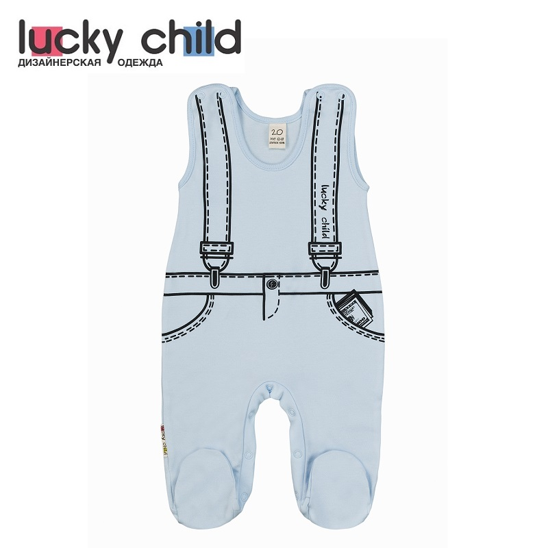 Rompers Lucky Child for boys 3-2 Children clothes kids clothes overalls lucky child for girls and boys 8 1 baby rompers children clothes