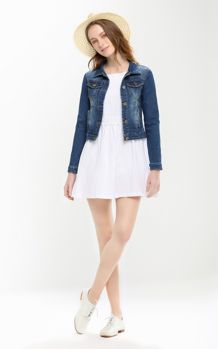 White denim jacket online shopping-the world largest white denim ...
