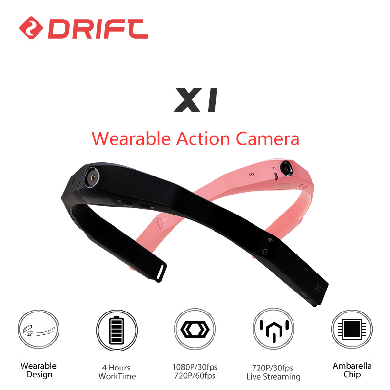 Pachet original DRIFT Wearable Action Camera 1080P HD Bicicleta Mountain Bike Casca Sport merge extreme pentru cam cu WiFi Ambarella Chip