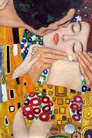 Woman in gold The Kiss (close up) Gustav Klimt paintings canvas art Hand painted High quality