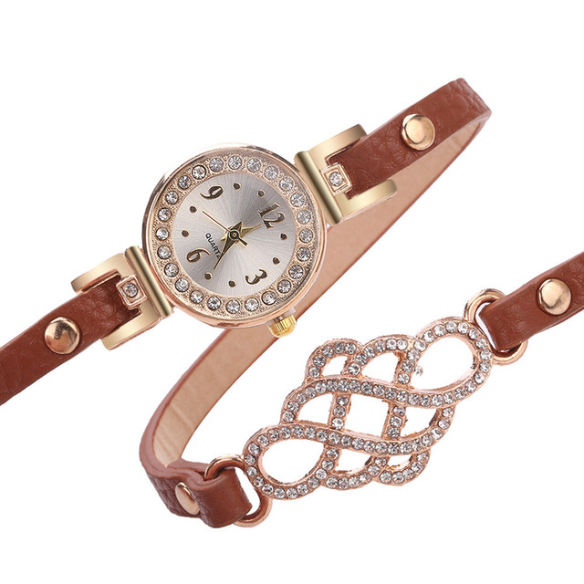 Hot Sal Women Watches Fashion Casual Bracelet Watch Women Relogio Leather Rhines