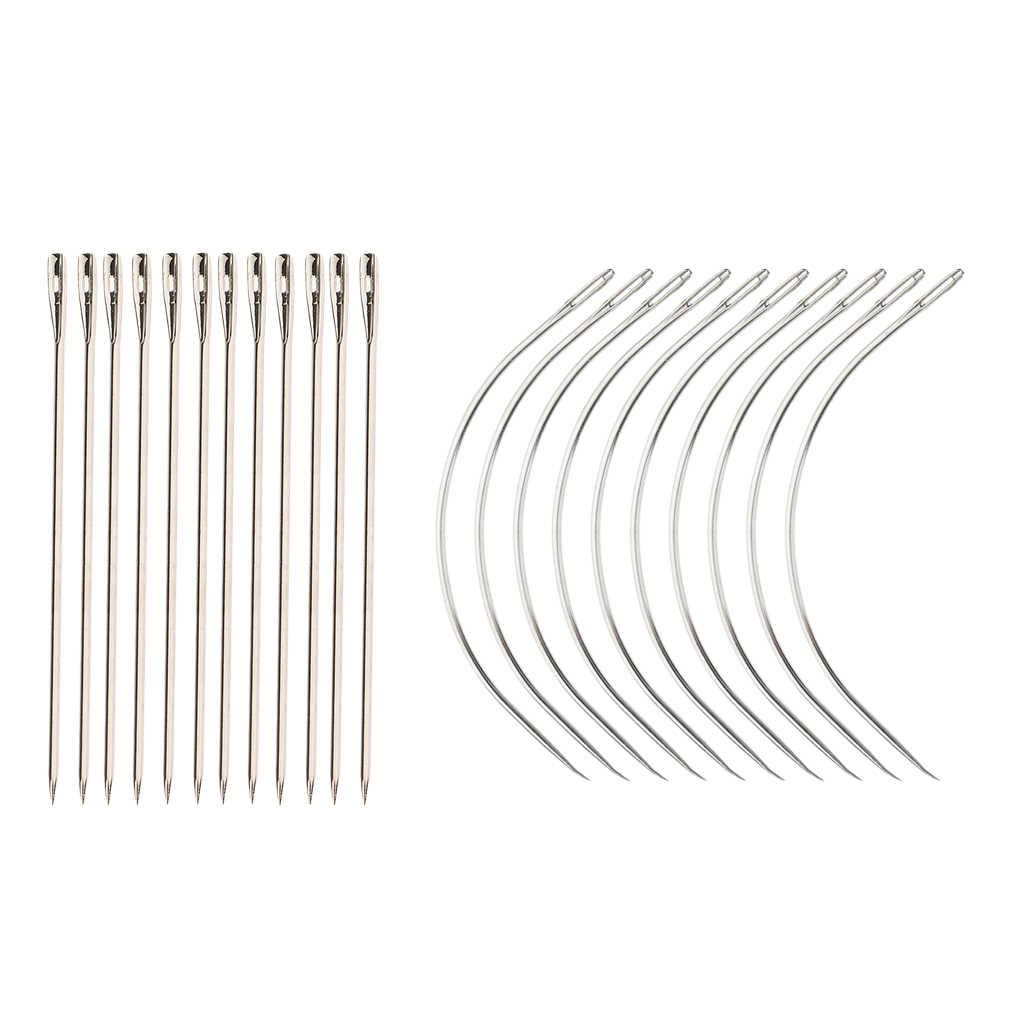 24x Швейные плетеные уточные иглы для волос удлинительная игла C + I Форма крючок для изготовления кружевного парика